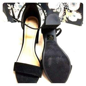 Shoes - Black Block Strappy Heel